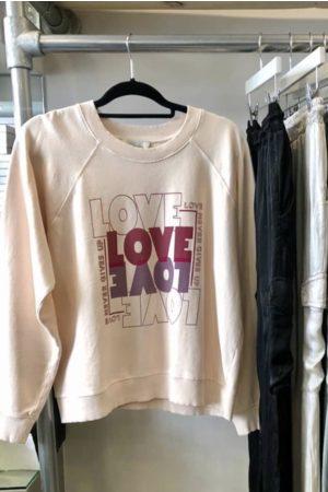 Berenice Women Sweaters - Love Slogan Sweater In Rose