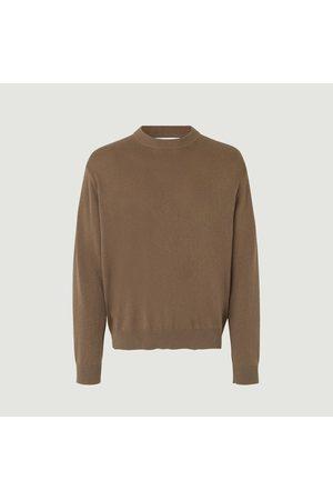 Samsøe Samsøe Men Sweaters - Thijs organic cotton and cashmere sweater Caribou Samsoe - Samsoe