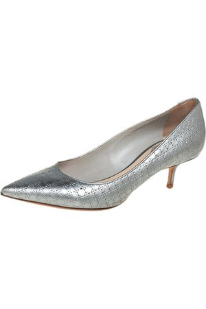 Dior Cannage Leather Kitten Heel Pumps Size 37.5