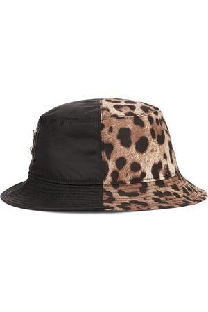 Dolce & Gabbana Men Hats - Leopard-print panel bucket hat