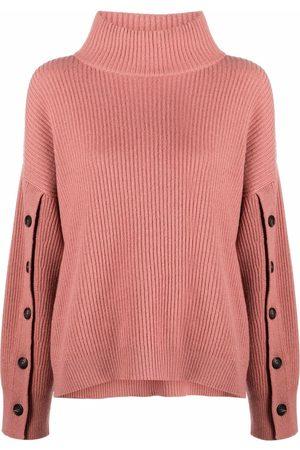 Brunello Cucinelli Women Long sleeves - Ribbed-knit long-sleeve jumper