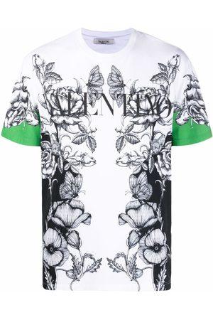 VALENTINO Men Short Sleeve - Dark Blooming-print short-sleeve T-shirt