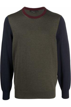BILLIONAIRE Men Sweatshirts - Colour-block merino wool jumper