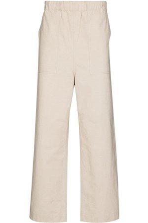 Snow Peak Men Straight Leg Pants - Bafu straight-leg trousers - Neutrals