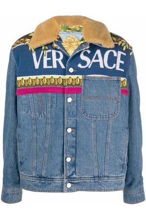 VERSACE Men Denim Jackets - Logo-detail denim jacket