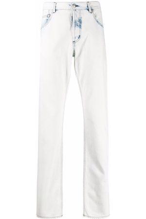 Alexander McQueen Men Straight - Acid wash straight leg jeans