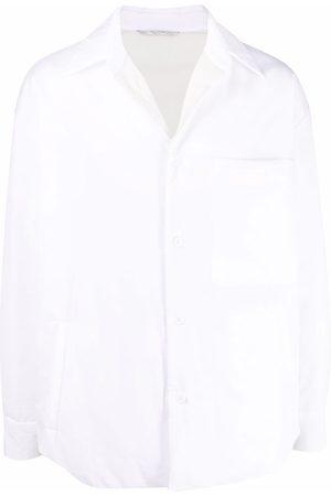 VALENTINO Logo-patch padded shirt
