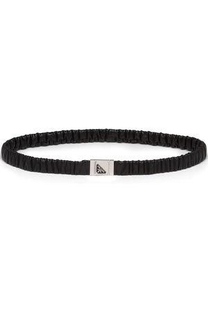 Prada Women Belts - Triangle logo elasticated belt
