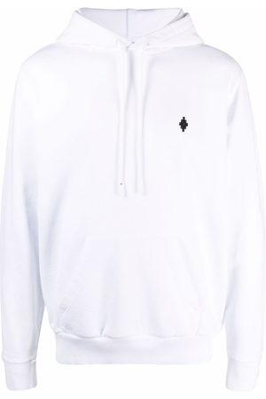 MARCELO BURLON Men Hoodies - Logo-print cotton hoodie
