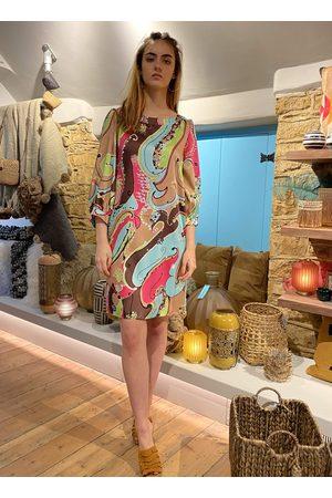 Emme Marella Women Tunic Dresses - Aggetto Tunic Dress in Azzurro