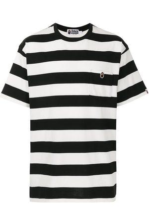 A BATHING APE® Stripe-pattern cotton T-shirt