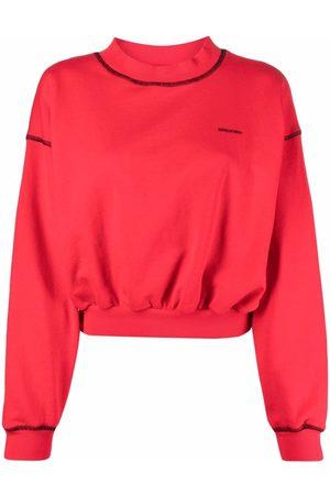 RED Valentino Women Sweatshirts - Stitch-detailing sweatshirt