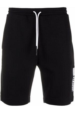 HUGO BOSS Men Sports Shorts - Logo-embroidered track shorts
