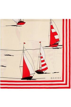 Gucci Women Scarves - Nautical-print silk scarf