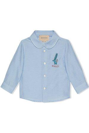 Gucci Kids Embroidered Freya Hartas shirt