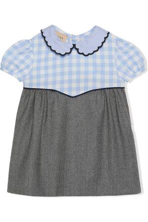 Gucci Gingham-trim dress