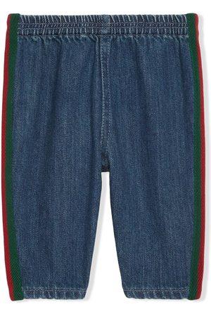 Gucci Kids Web-trim jeans