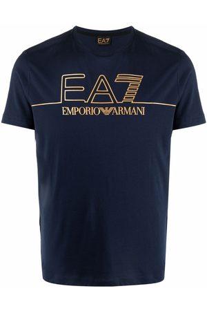 EA7 Logo-print cotton T-shirt