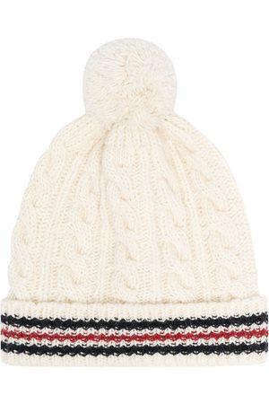 Thom Browne Cable-knit RWB beanie