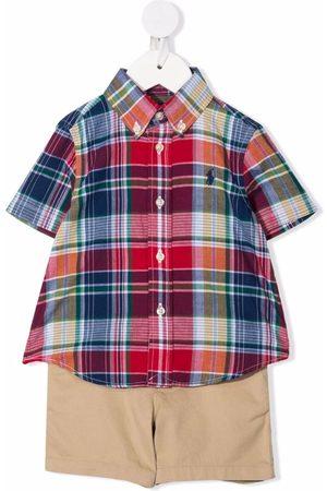 Ralph Lauren Checked cotton set - Neutrals