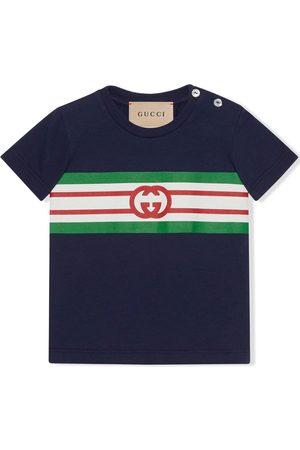 Gucci Interlocking G stripe-detail knitted top