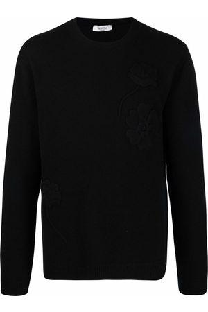 Valentino Textured floral cashmere jumper