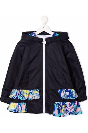 Emilio Pucci Junior Ruffle-detail hooded jacket
