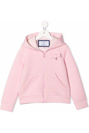 Simonetta Bow-detail zipped hoodie