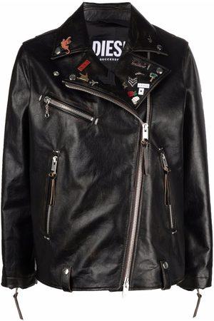 Diesel Pin badge biker jacket