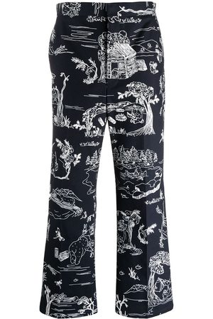 Thom Browne Sketch-print tailored trousers