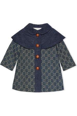 Gucci Duffle Coat - GG jacquard denim coat