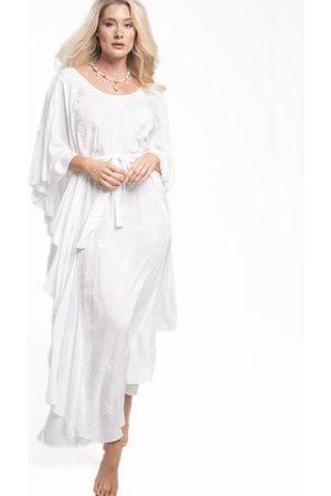 Pranella Charlston Maxi Kaftan Dress White