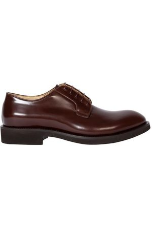 Paul Smith Wesley Leather Derby Shoes - Mens - Burgundy