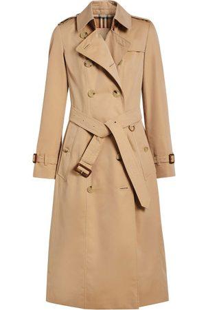 Burberry Chelsea Long Gabardine Trench Coat - Womens