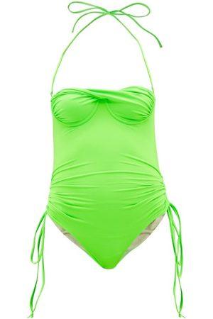 Isa Boulder Women Swimsuits - Tornado Halterneck Twist-front Swimsuit - Womens