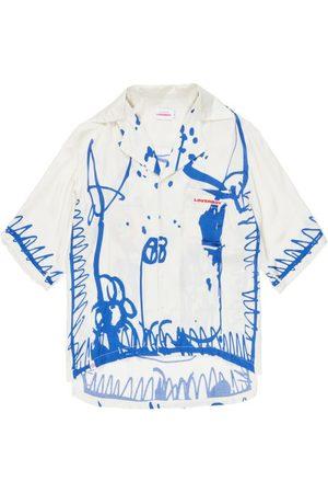 Charles Jeffrey Loverboy Drawing-print Poplin Short-sleeved Shirt - Mens