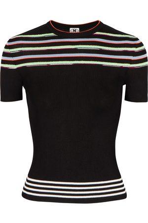 M Missoni Stripe-intarsia stretch-knit top