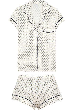 Eberjey Gisele printed jersey pyjama set