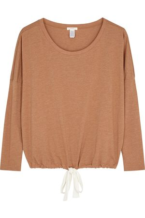 Eberjey Women Pajamas - Heather camel jersey pyjama top