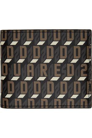 Dsquared2 Black Monogram Bifold Wallet