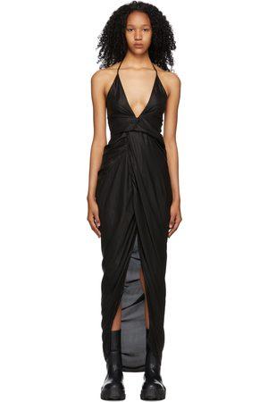 Rick Owens Women Dresses - Black Cupro Laura Dress