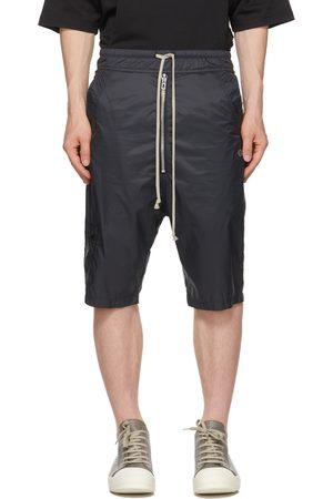 Rick Owens Black Champion Edition Nylon Bela Shorts
