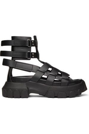 Rick Owens Men Sandals - Black Hiking Tractor Sandals