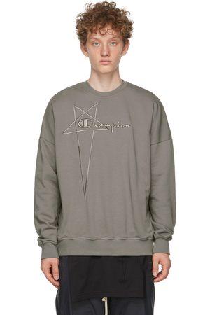 Rick Owens Men Sweatshirts - Grey Champion Edition Pullover Sweatshirt