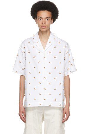 Jacquemus White & Brown 'La Chemise Blé' Short Sleeve Shirt