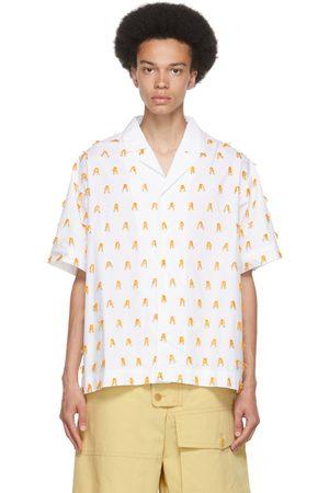 Jacquemus White & Orange 'La Chemise Blé' Short Sleeve Shirt