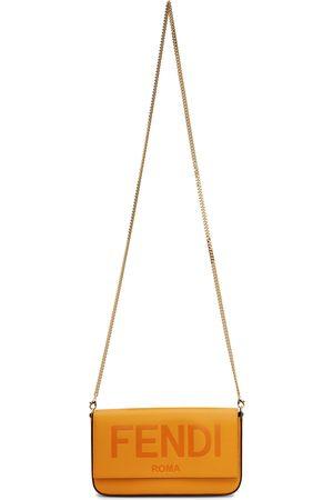 Fendi Women Wallets - Orange Logo Wallet Shoulder Bag