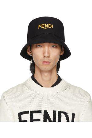 Fendi Men Hats - Reversible Black 'Forever ' Fisherman Hat