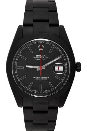 MAD Paris Men Watches - Black & Red Customized Rolex Datehust II Watch