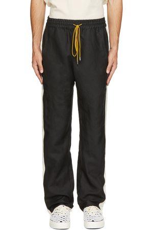 Rhude Men Sweatpants - Black Collegiate Track Trousers